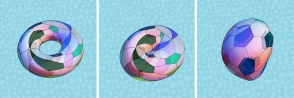 Морфинг тора в двухслойный мяч