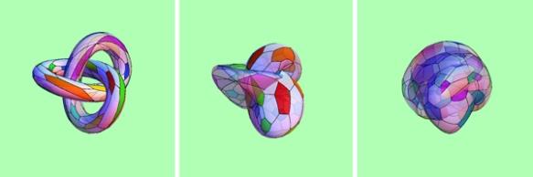 Морфинг трилистного узла в двухслойный мяч